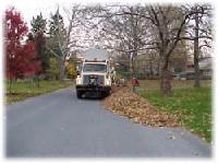 Leaf Collecting Truck
